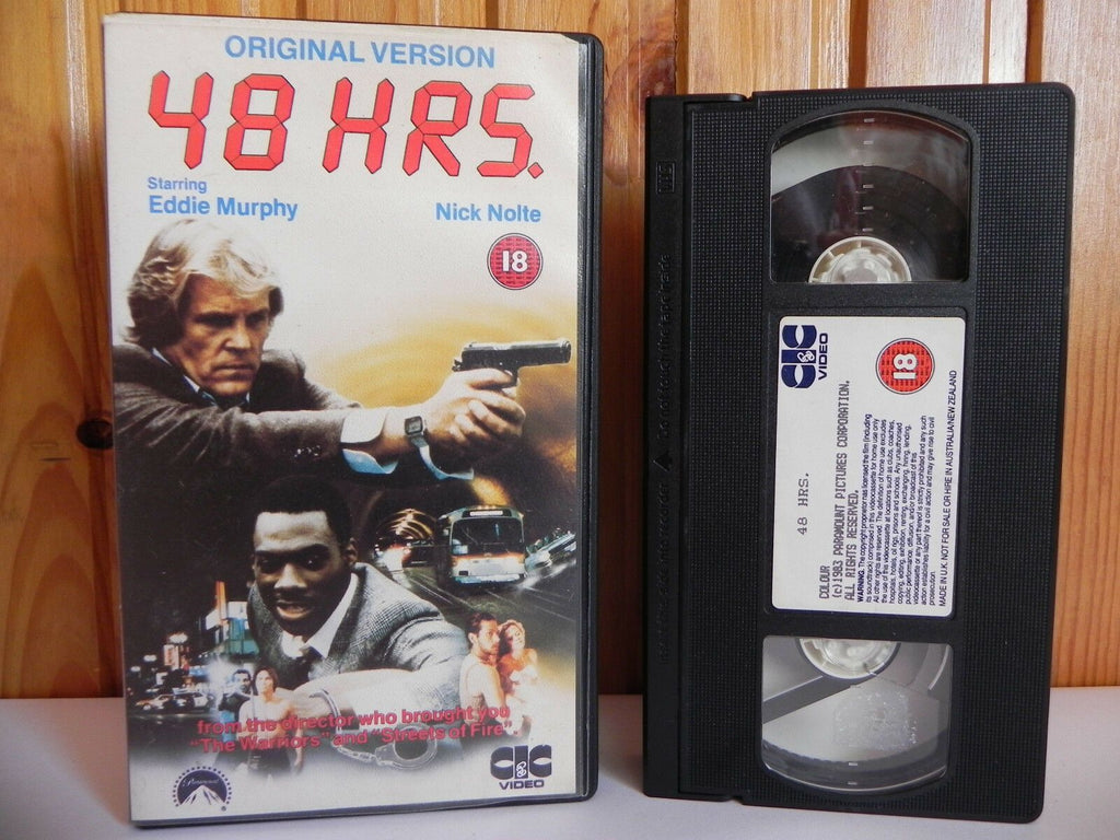 48 Hours - CIC - Action - Original Version - Eddie Murphy - Nick Nolte - Pal VHS