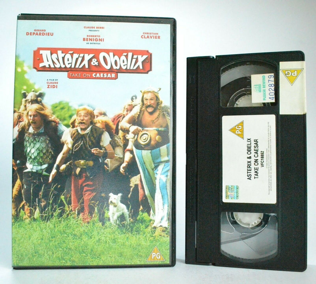 Asterix And Obelix Take On Caesar - Comedy - Large Box - Ex-Rental - Pal VHS