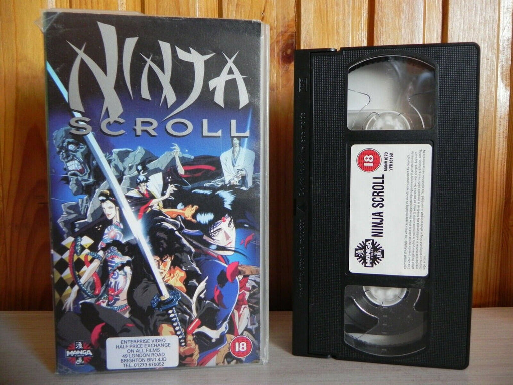 Ninja Scroll - Manga Video - Cert (18) - Action-Packed Tribal War - Pal VHS