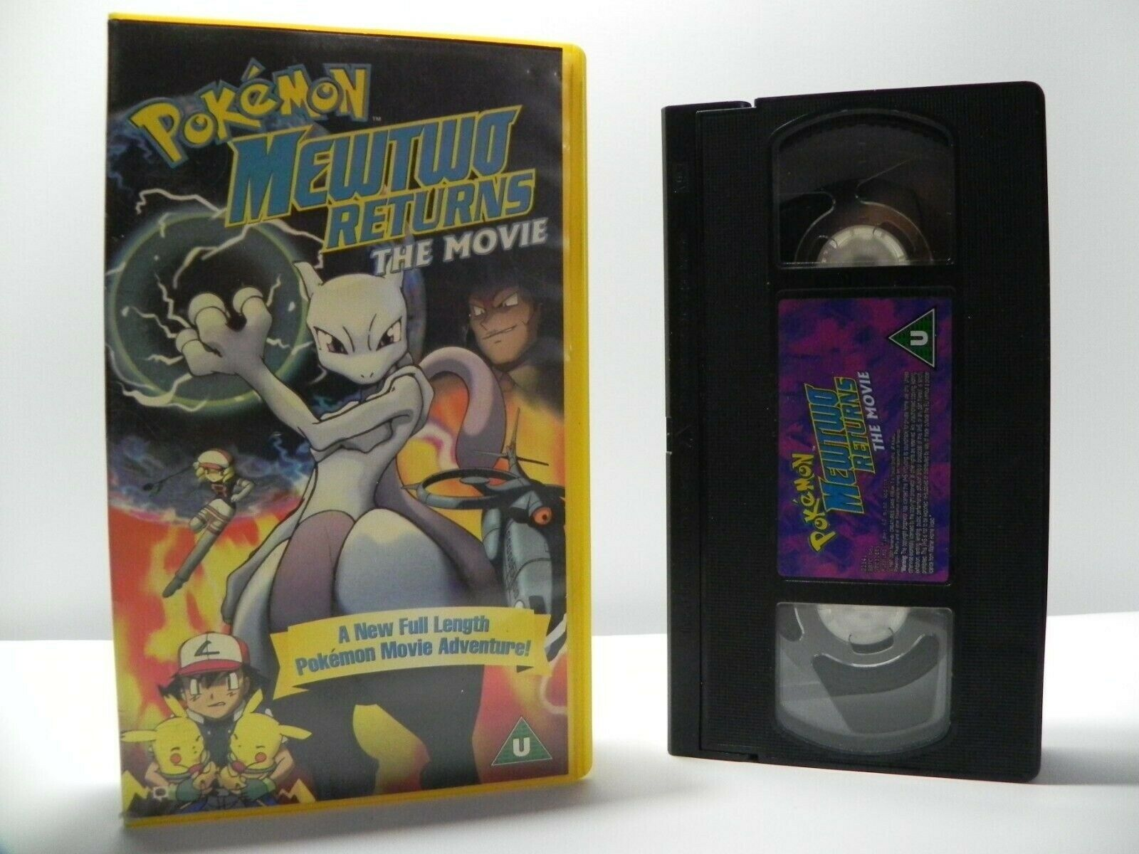 Pokemon Mewtwo Returns: The Movie - Classic Animation - Children's - Pal VHS