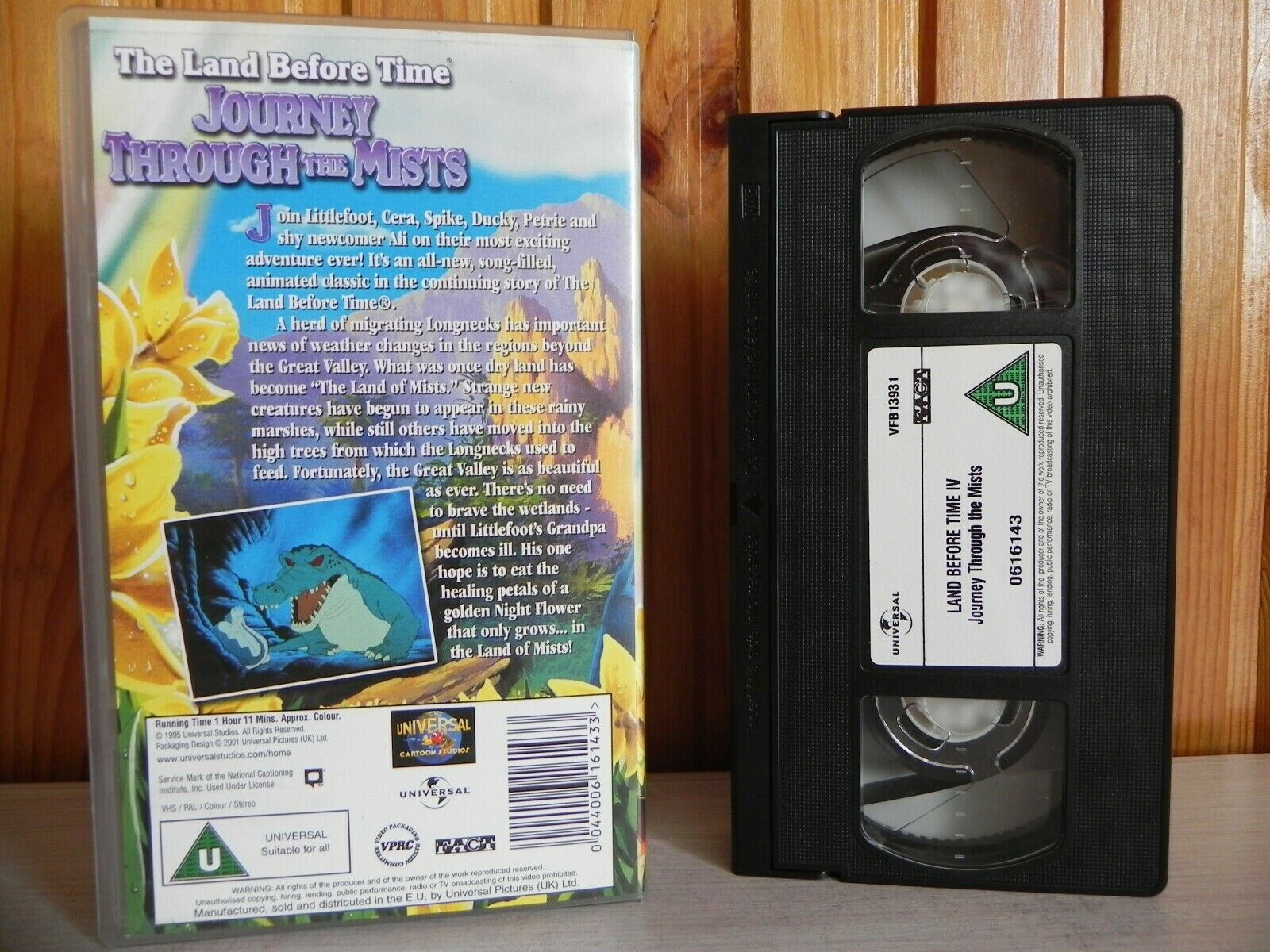 The Land Before Time - Journey Through The Mists - Universal - Adventure - VHS