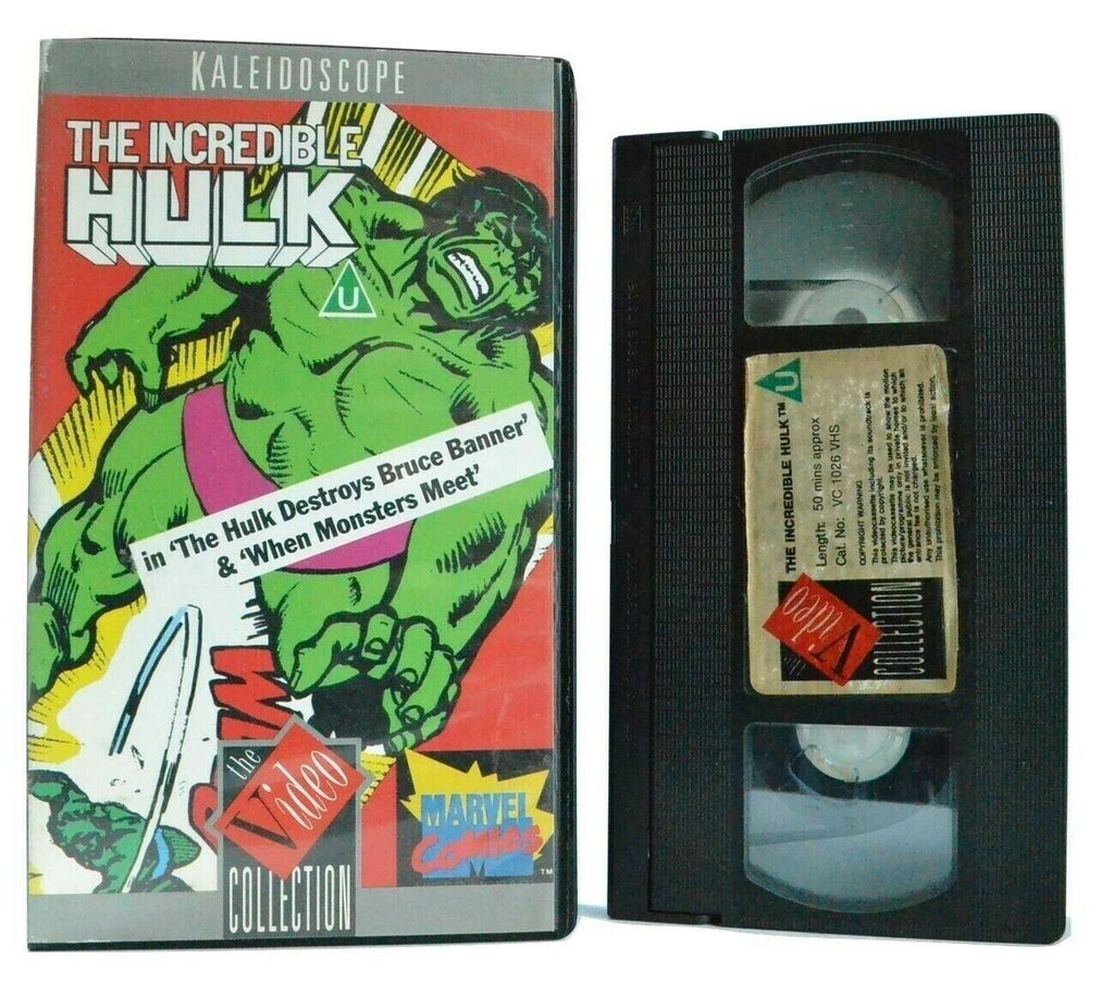 The Incredible Hulk: When Monsters Meet - Animation - Marvel Comics Action - VHS