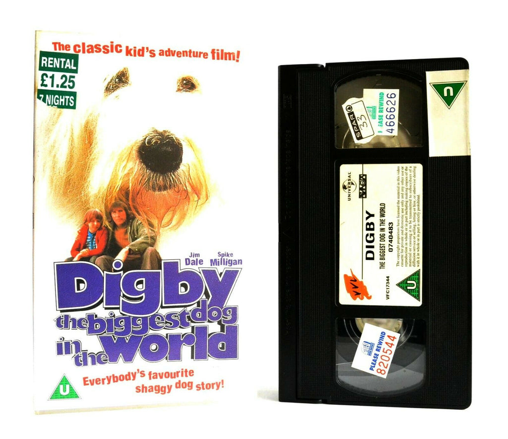 Digby: The Biggest Dog In The World - Classic Kid's Adventure - Jim Dale - VHS