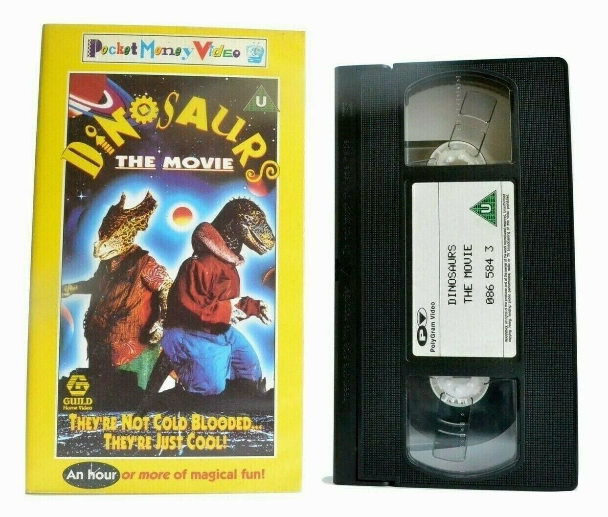 Dinosaurs The Movie (Pocket Money Video) - Family Film - Children's - Pal VHS