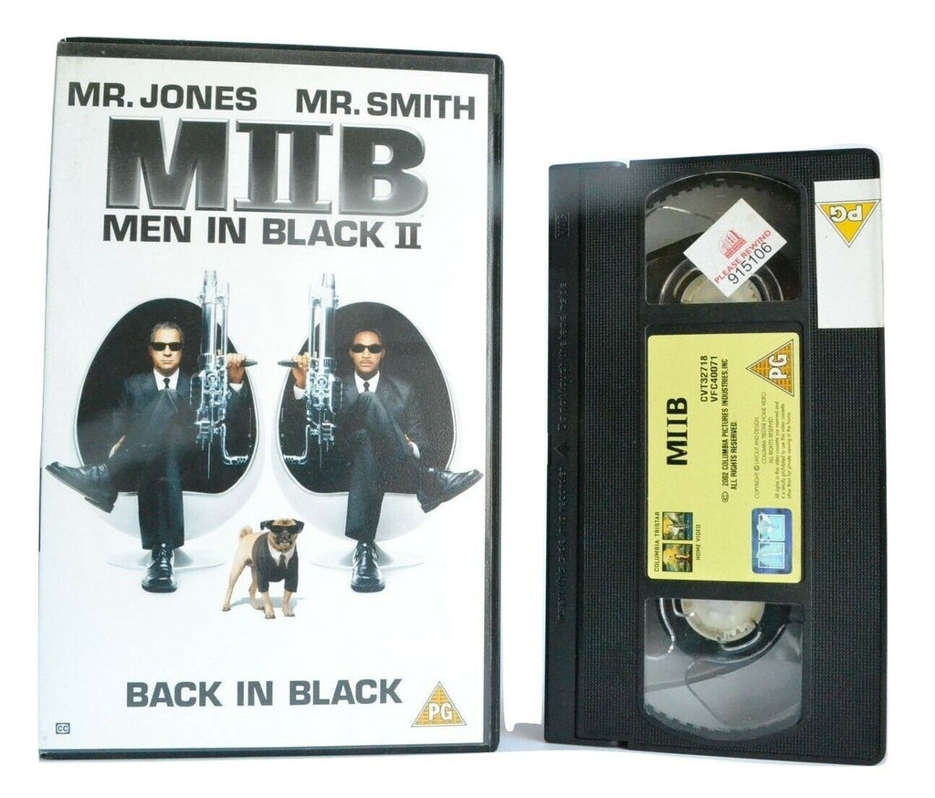 Men In Black 2 (MIIB): (2002) Sci-Fi/Action Comedy - W.Smith/T.Lee Jones - VHS