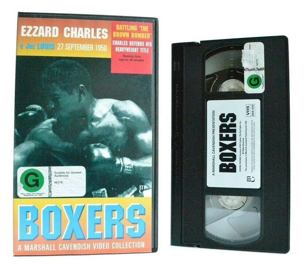 Boxers: Ezzard Charles Vs Joe Louis - 27/09/1950 - Heavyweight Title Fight - VHS