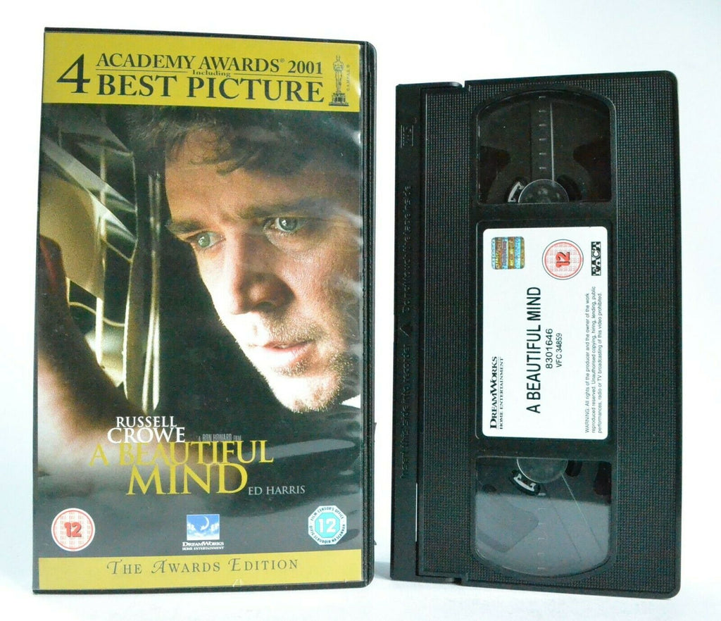 12A/12, 2004, Awards, Based, Beautiful, Drama, Edition, Events, On, PAL, Ron Howard, Russell Crowe, True, VHS