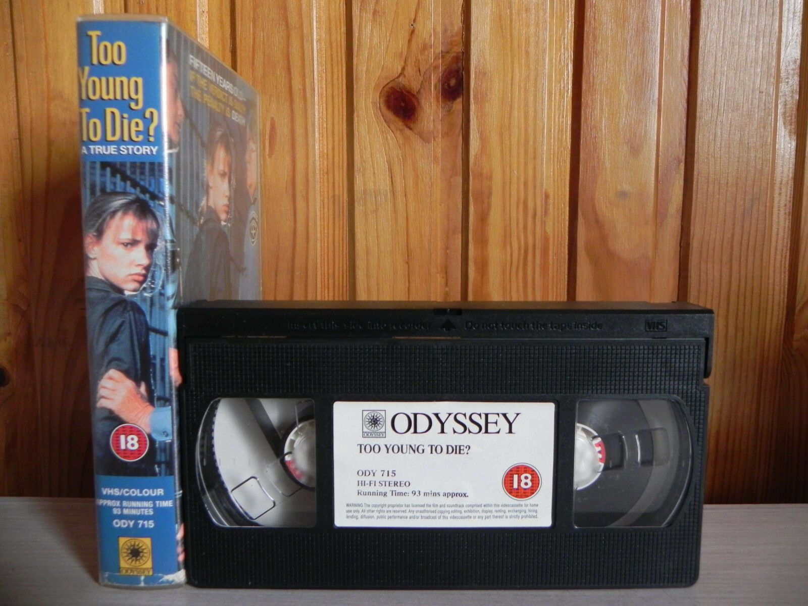 Too Young To Die - Odyssey - Cert (18) - Juliette Lewis - Brad Pitt - Pal VHS