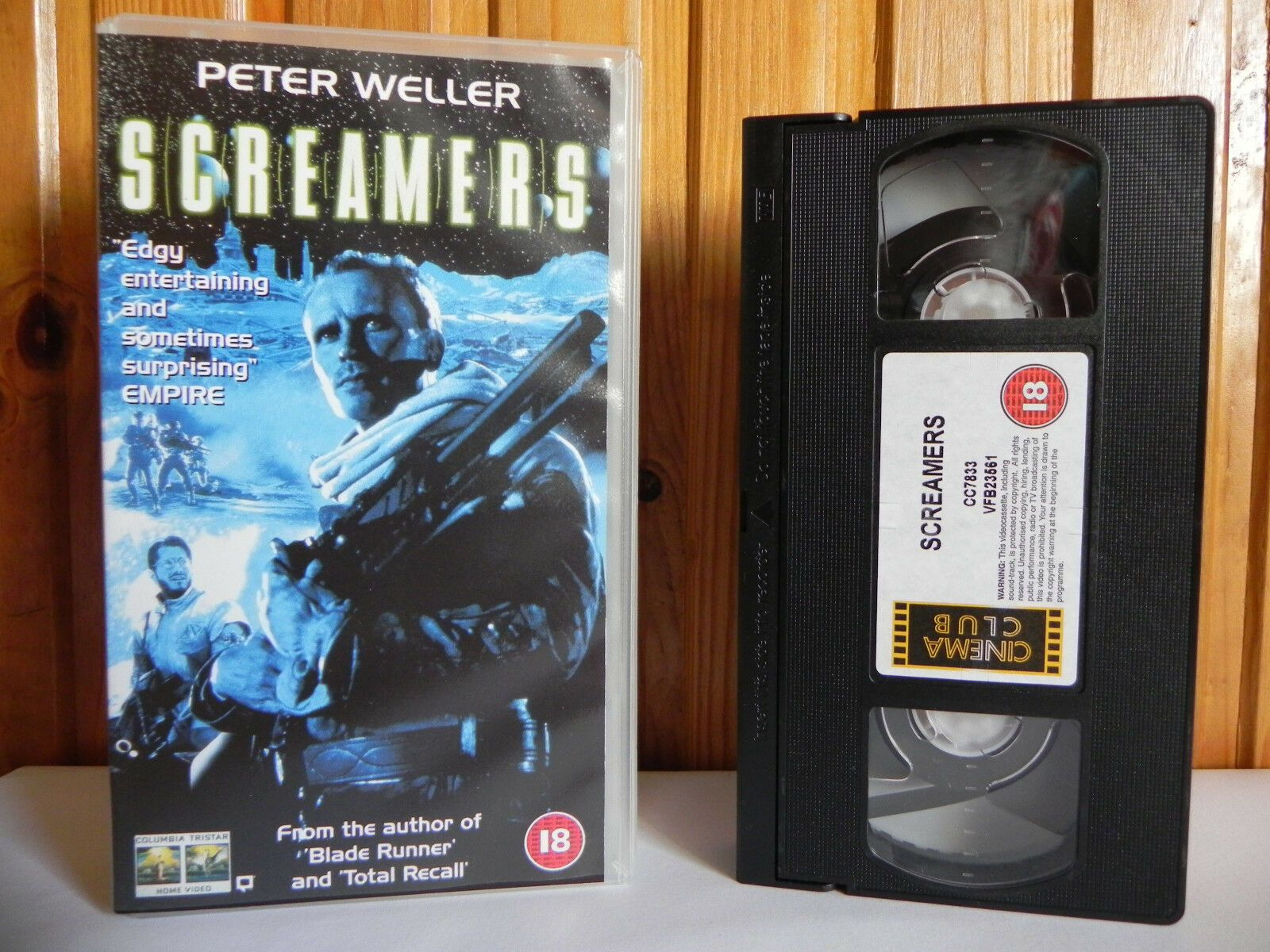 Screamers - Columbia Tristar - Sci-Fi - Cert (18) - Peter Weller - Pal VHS