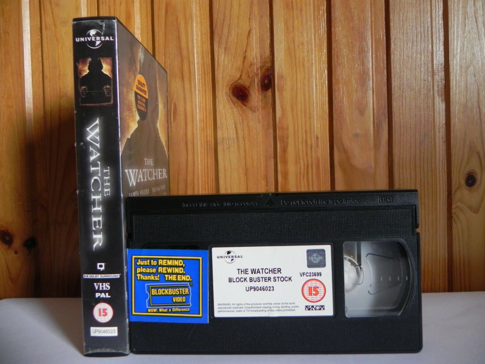 The Watcher - Large Box - Universal - Thriller - Ex-Rental - Marisa Tomei - VHS