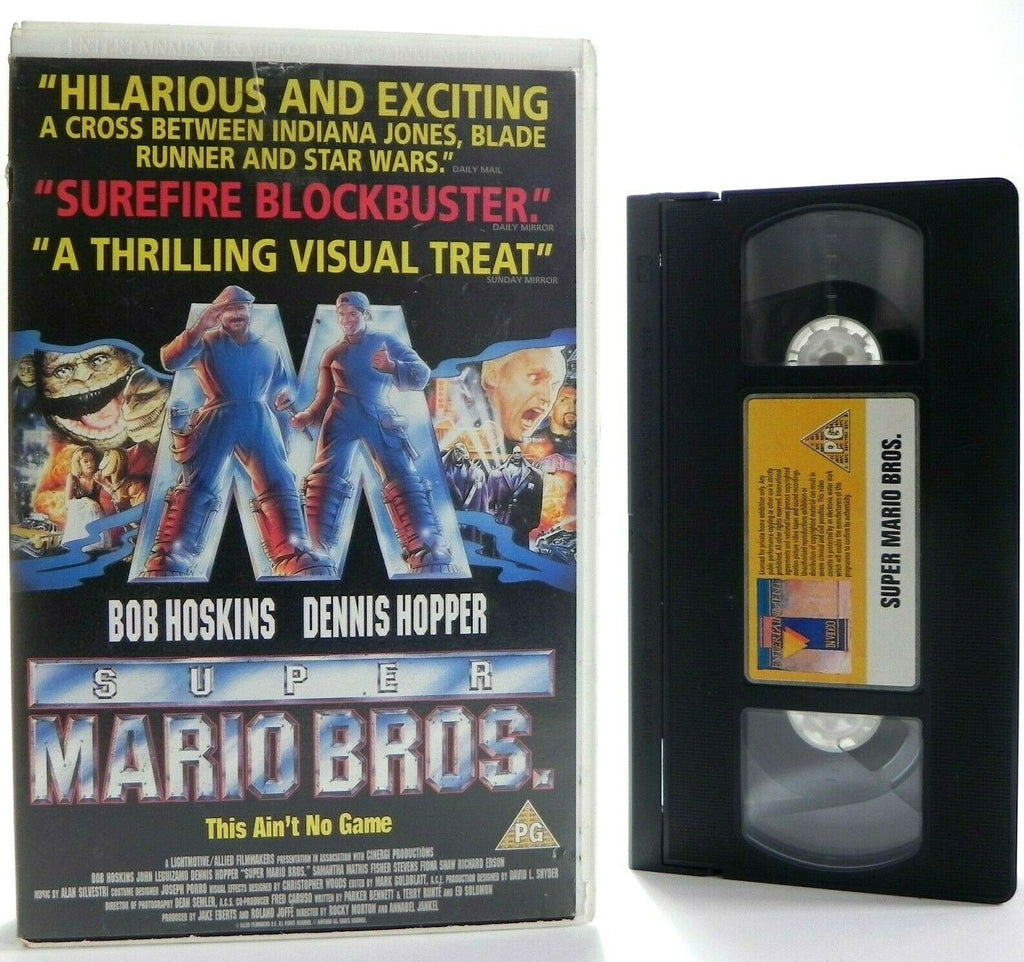 Super Mario Bros: Nintendo Blockbuster - Large Box - B.Hoskins/D.Hopper - VHS