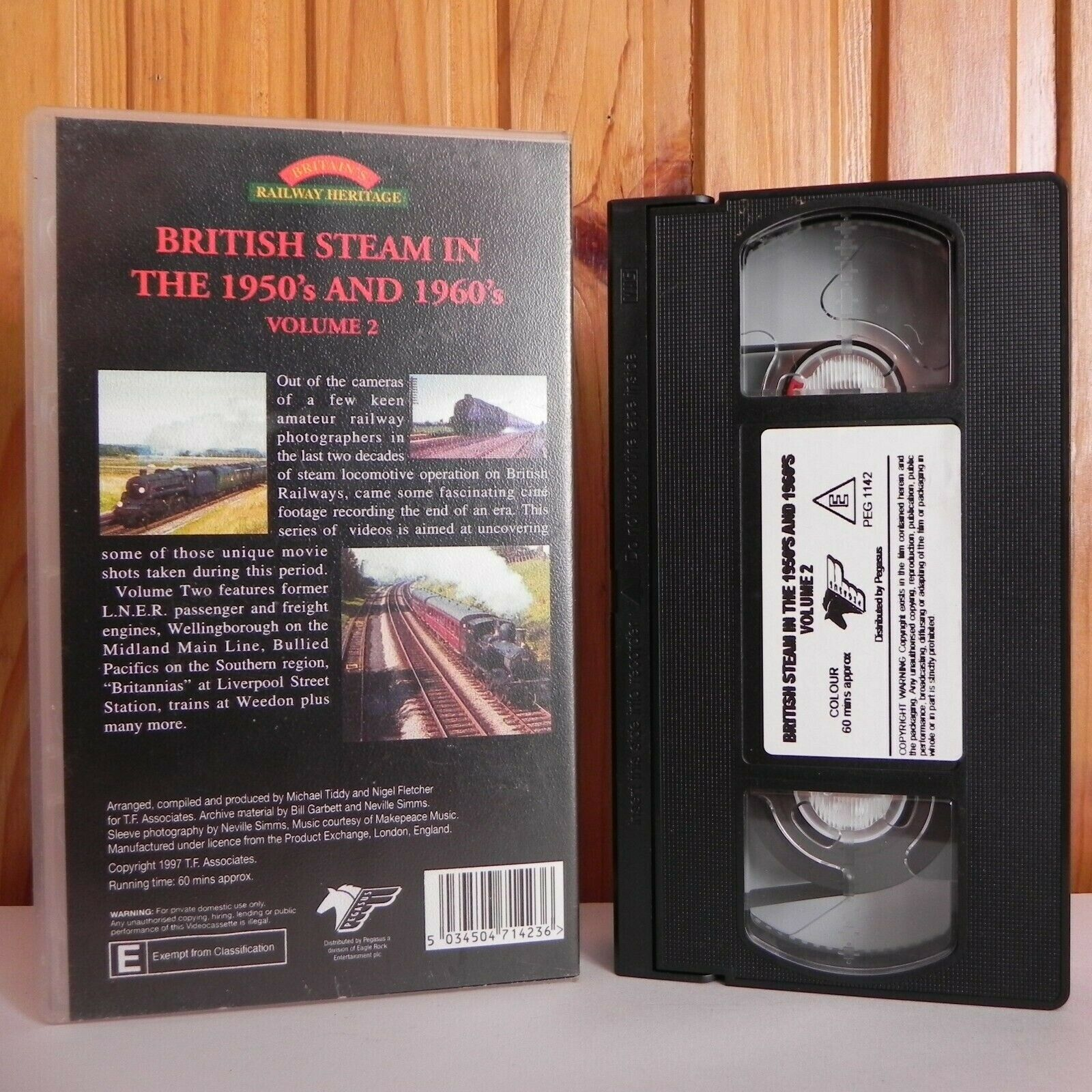 British Steam In The 1950's And 1960's - Volume 2 - Railway Heritage - Pal VHS