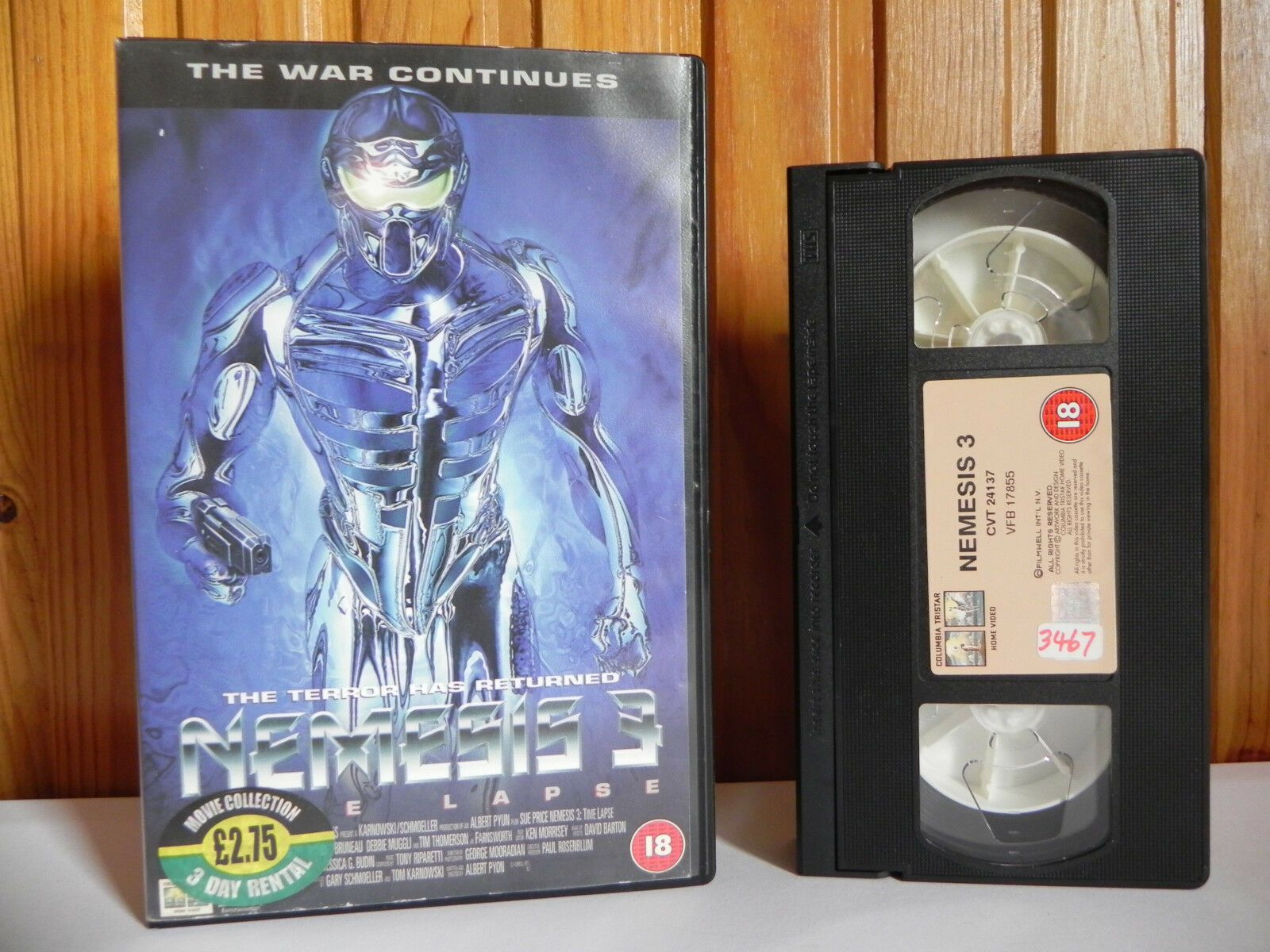 Nemesis 3: Time Lapse - Columbia Tristar - Sci-Fi - Action - Large Box - Pal VHS