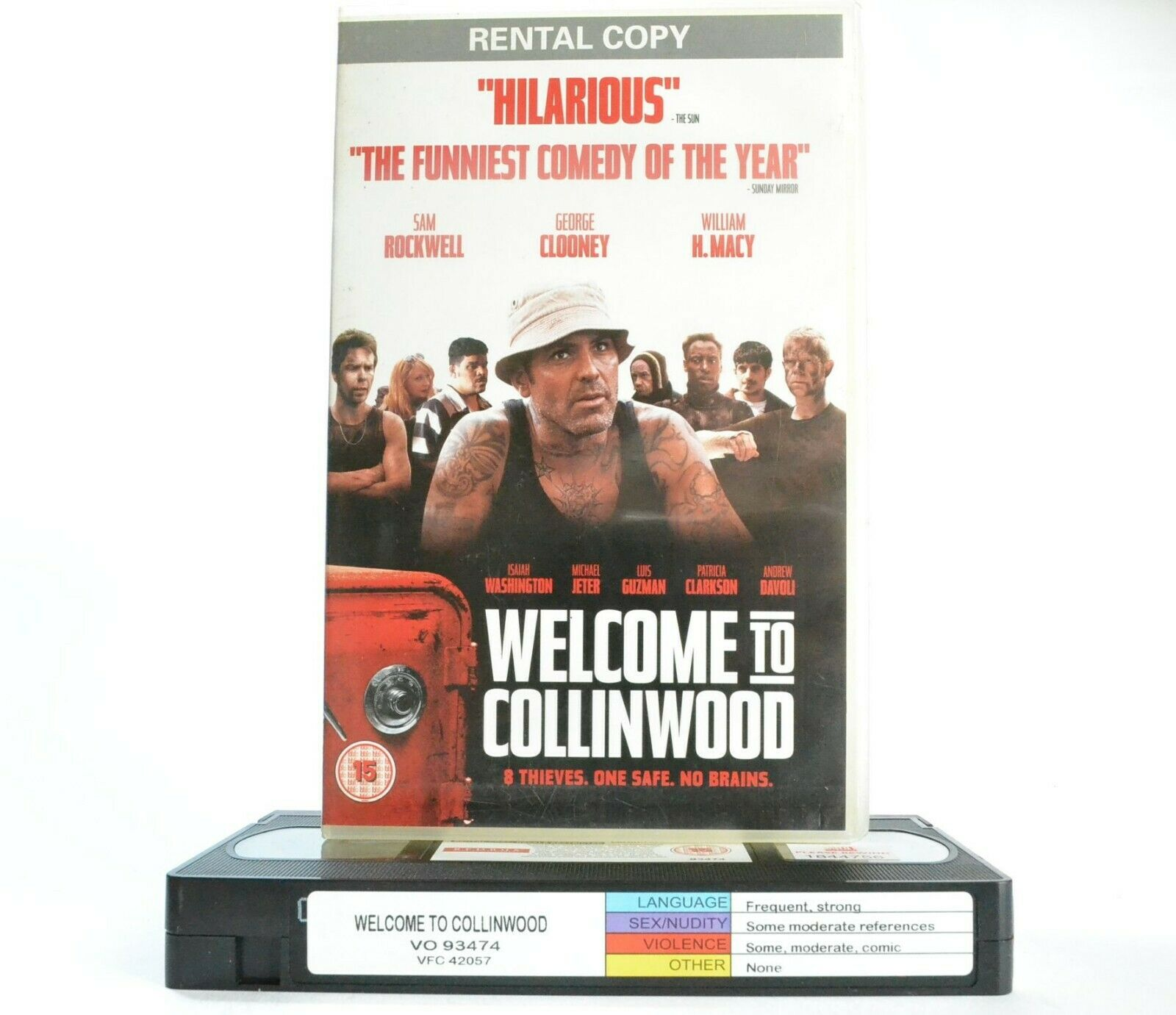 Welcome To Collinwood (2002) - Caper Comedy - Large Box - George Clooney - VHS