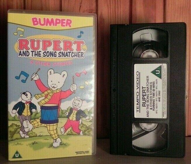 Rupert And The Song Snatcher - Animated Adventures - Children's - Pal VHS