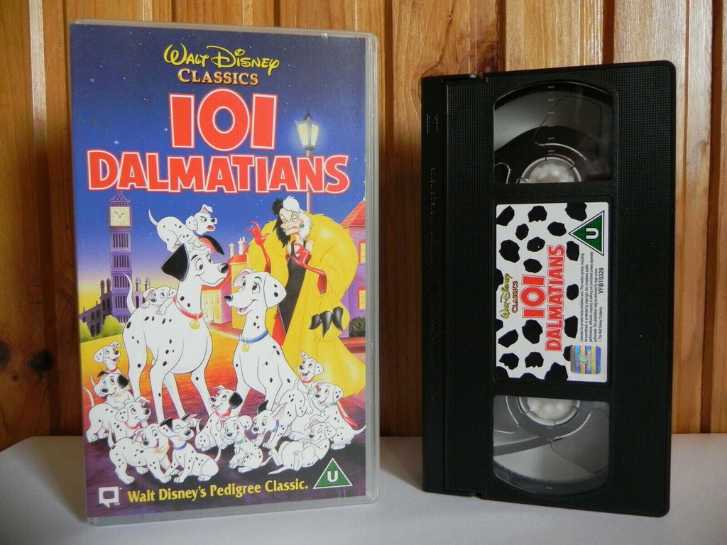 101, 1996, Adventure, Animated, Children's & Family, Classic, Clyde Geronimi, Dalmatians, Disney, Educational, No, PAL, U, United Kingdom, VHS, Walt, Walt Disney