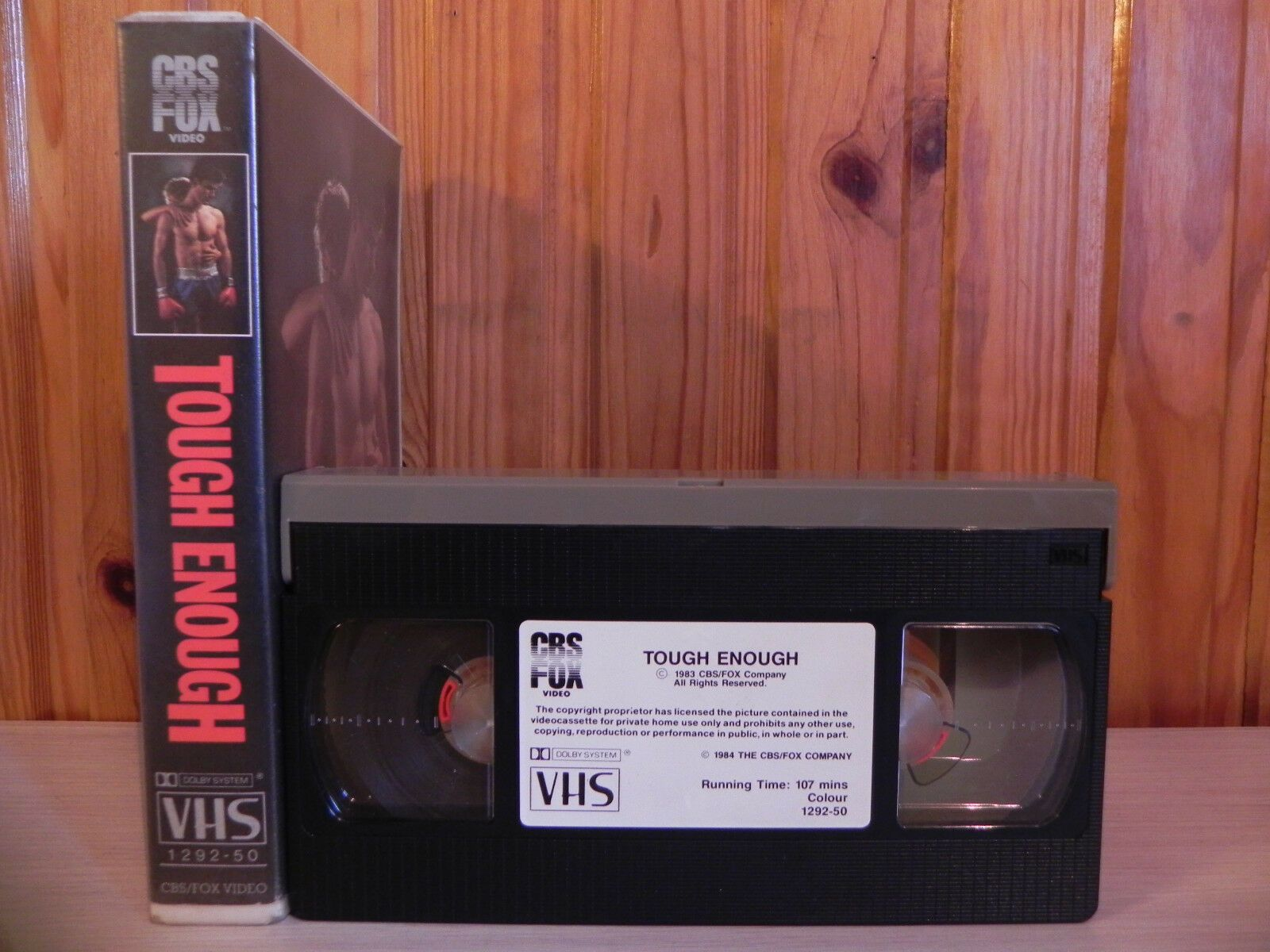 Tough Enough - Dennis Quaid - Stan Shaw - Boxing VHS - 1983 - Pre-Cert - Video