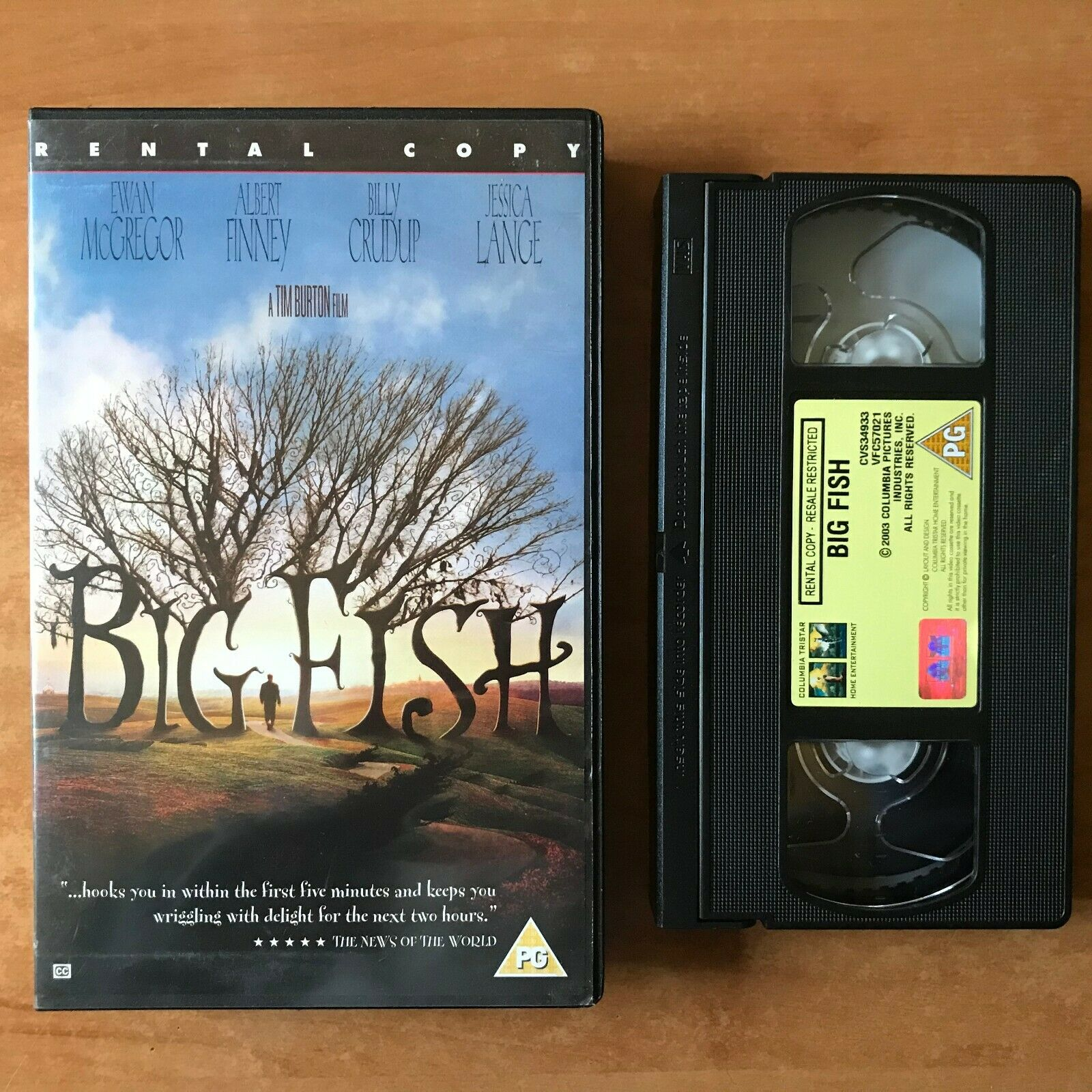 Big Fish (2003); [Tim Burton] Fantasy - Large Box [Rental] Ewan McGregor - VHS