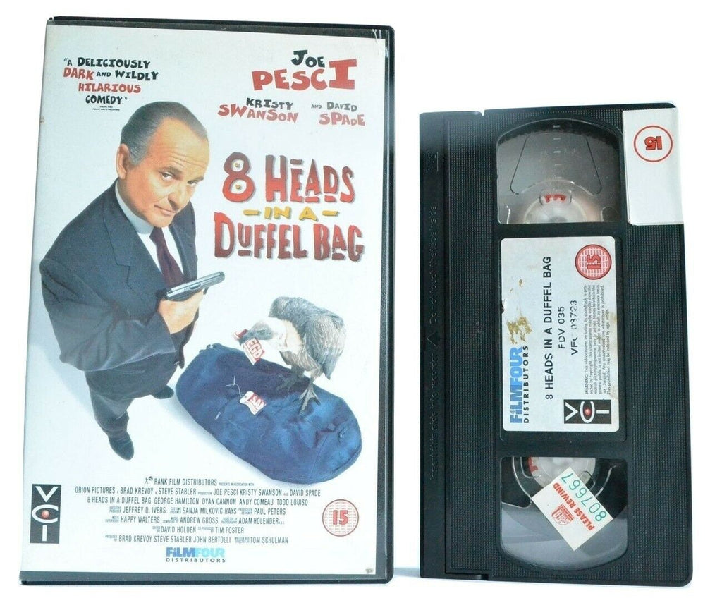 8 Heads In A Duffel Bag, Bag, Black, Box, Comedy, Duffel, Heads, In, Joe, Large, Pal, Pesci, VHS