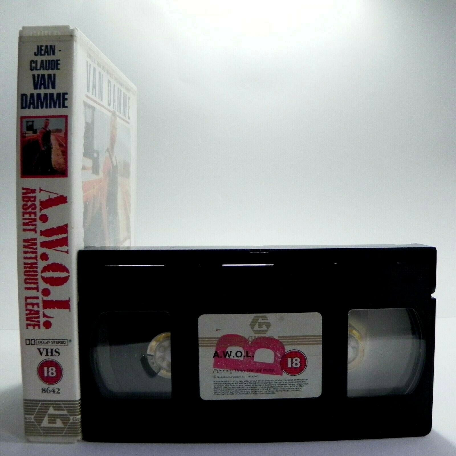 A.W.O.L.: Absent Without Leave - Large Box - Action - Van Damme - Pal VHS