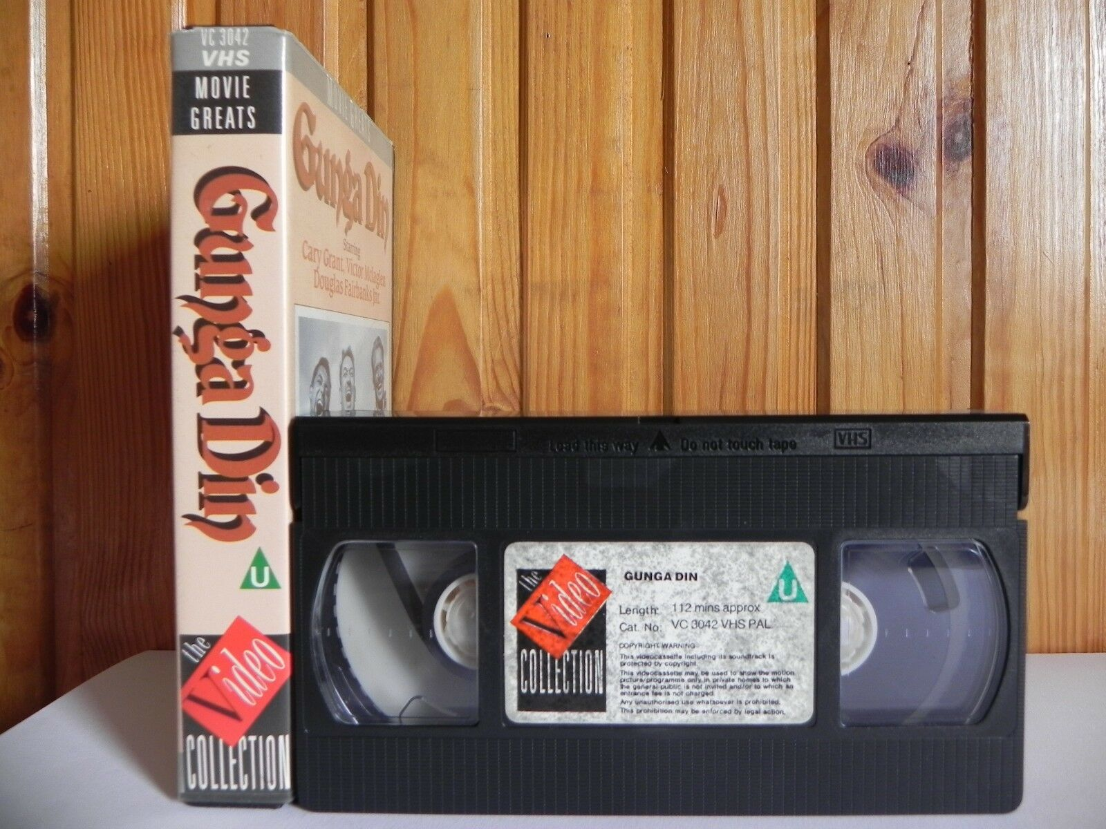 Gunga Din (1939); Movie Greats - War Comedy - Action Adventure - Cary Grant - Pal VHS