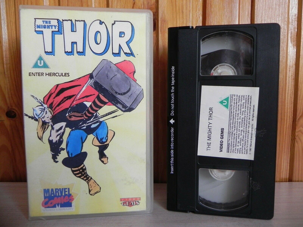 Thor - Enter Hercules - Marvel Comics Video Library - Four Episodes - Kids - VHS