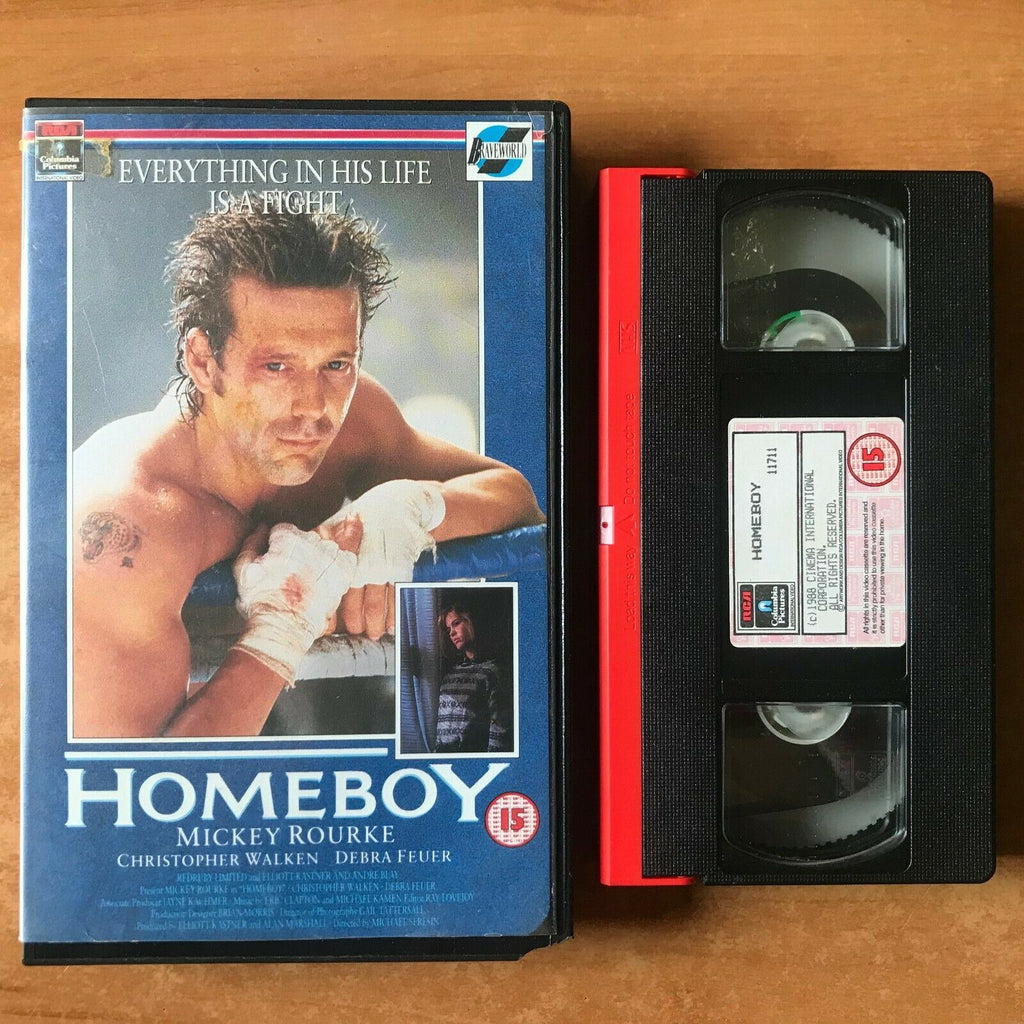 Homeboy: Boxing Drama; [Large Box] Mickey Rourke / Christopher Walken - Pal VHS