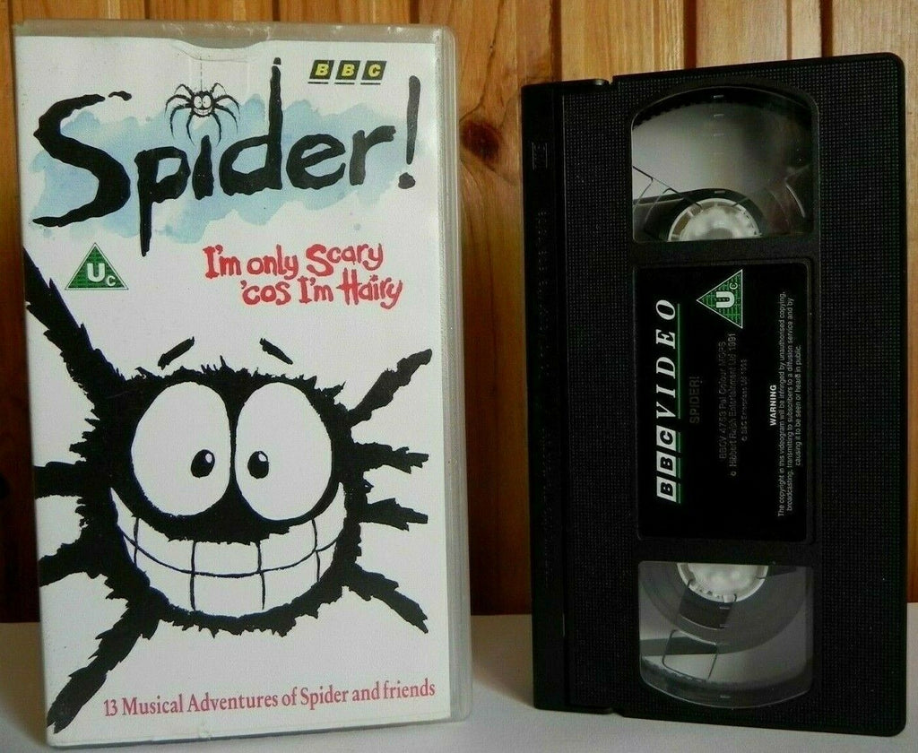 Spider - BBC - Animated - Musical Adventures - Fun Stories - Children's - VHS