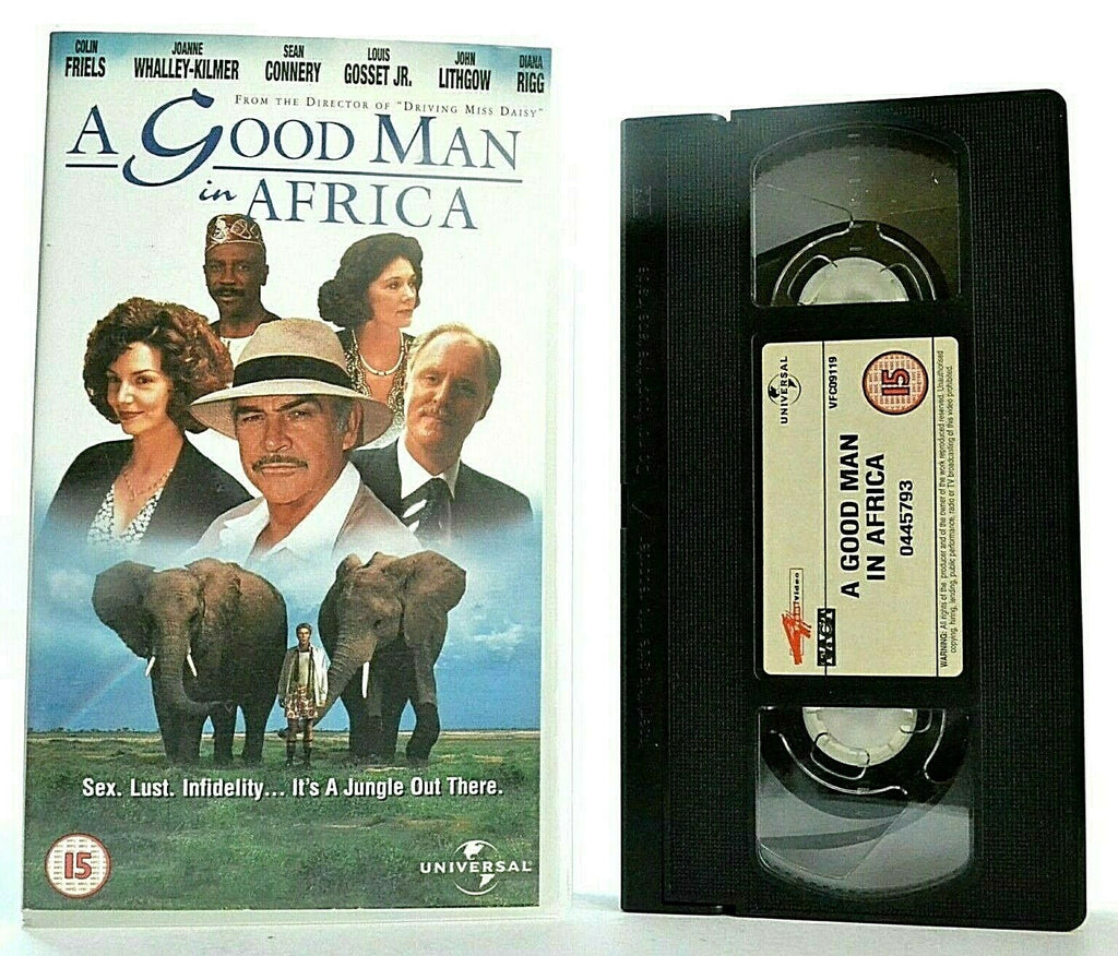 15, 2000, A Good Man In Africa, Africa, Bruce Beresford, Colliding, Comedy, Connery, Cultures, Good, In, John Lithgow, Man, Pal, Sean, VHS