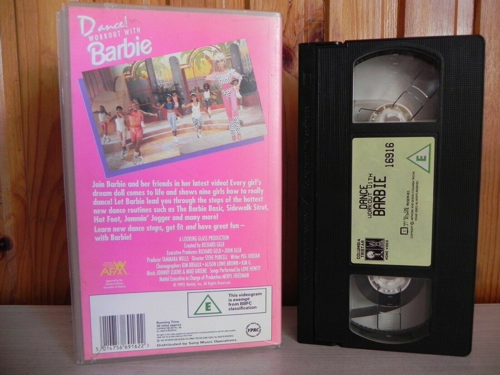 Barbie, Dance, Exercise & Fitness, Fun, Great, Hewitt, Hollywood Dolls, Life In The Dreamhouse, Love, Mattel Creations, Music, Of, PAL, VHS, Workout