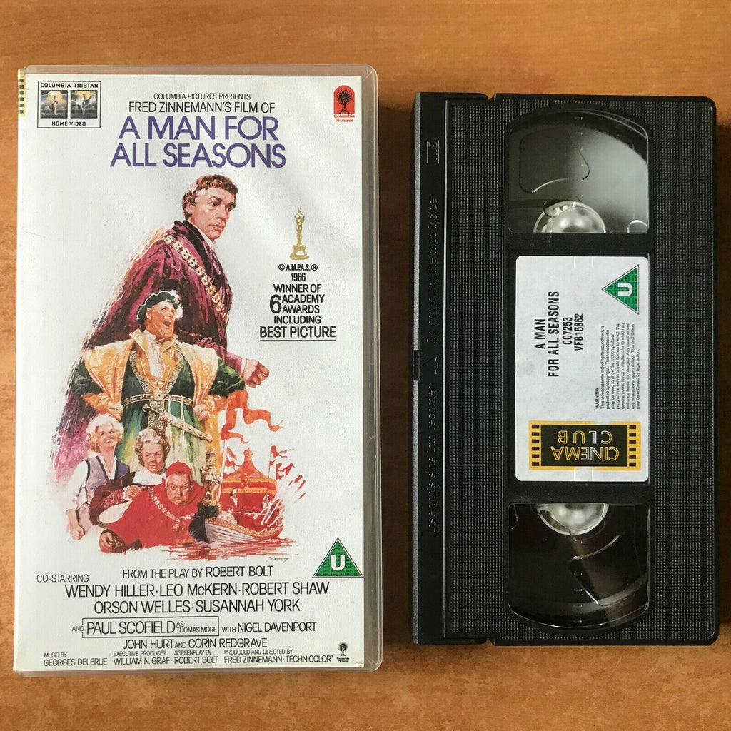 A Man For All Seasons; Biographical Drama - King Henry VIII - Robert Shaw - VHS