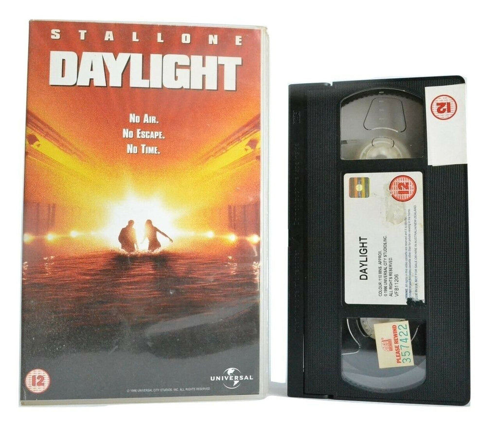 Daylight (1996): Disaster Thriller - Large Box - Sylvester Stallone - Pal VHS