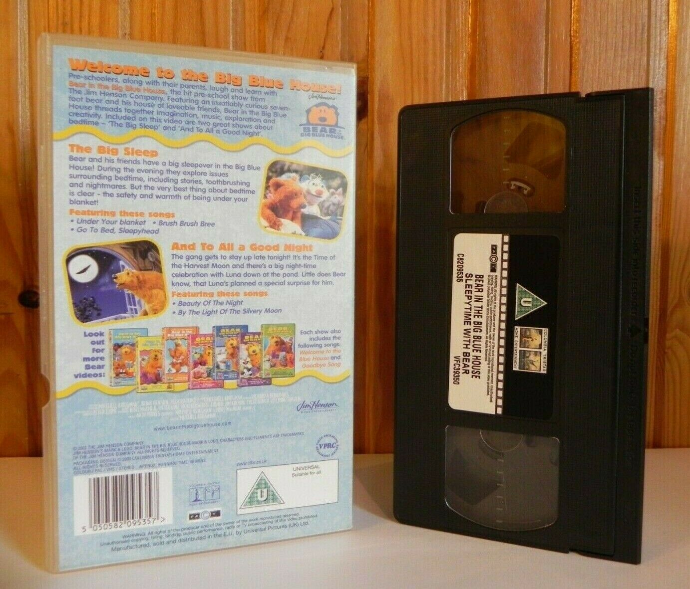 2003, Animation, Bear, Bear In The Big Blue House, Big, Blue, Children's & Family, Educational, In, Kids, Pal, Preschool, Sleepy, The, Time, U, VHS