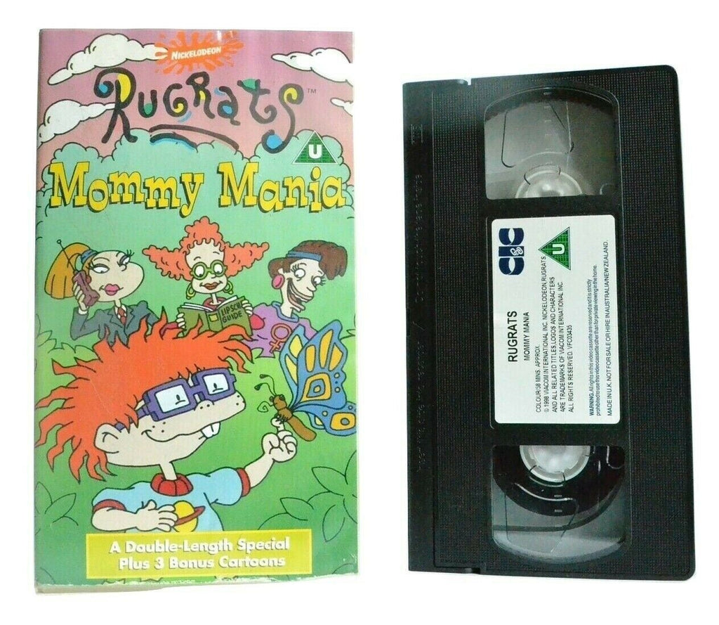 Rugrats: Mommy Mania (1998) - Special + Bonus Cartoons - Animated - Kids - VHS