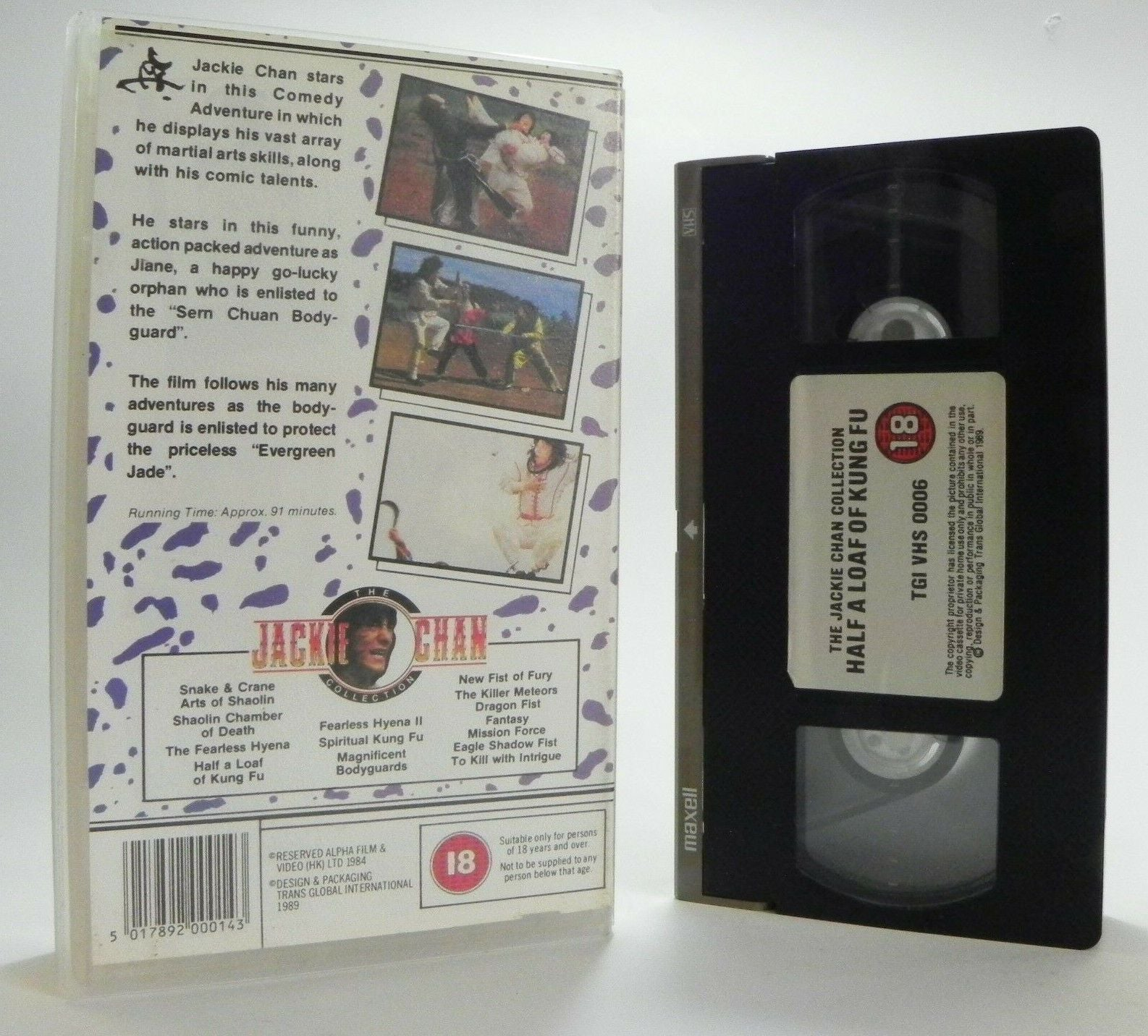 Half A Loaf Of Kung Fu: Jackie Chan Collection - Martial Arts (1978) - Pal VHS