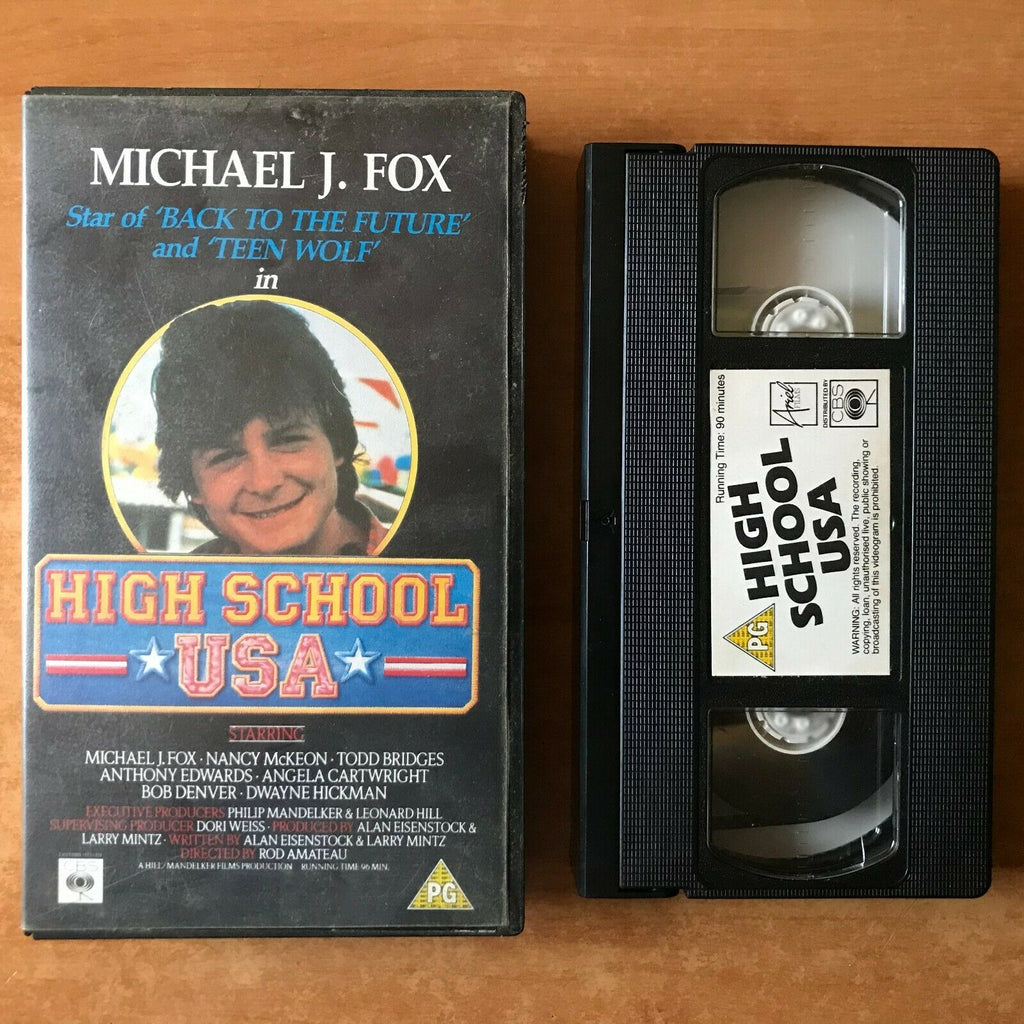 Ariel, Comedy, For, High, High School USA, Made, Michael, Michael J. Fox, PAL, School, TV, USA, VHS