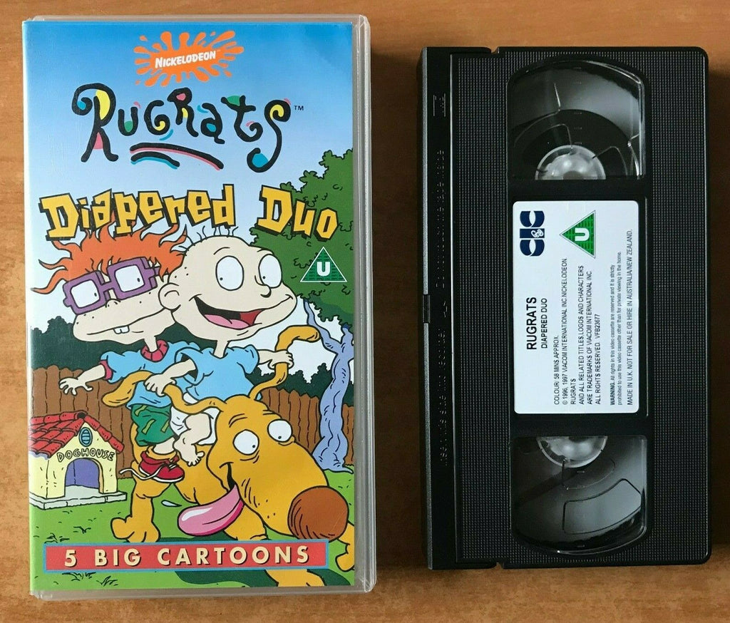 Rugrats: Diapered Duo [Nickelodeon]: Down The Drain - Animated - Kids- Pal VHS