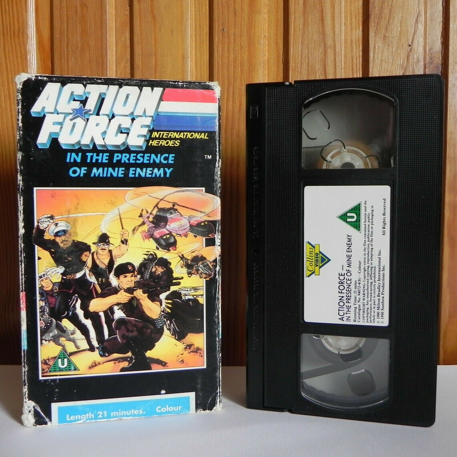 Action, ActionForce, Carton, Children's & Family, Educational, Enemy, In, Mine, Of, Pal, Presence, Ron Friedman, The, U, United Kingdom, VHS