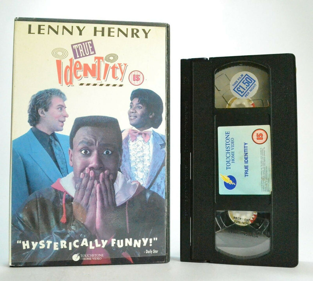 True Identity: Touchstone (1991) - Comedy - Large Box - Lenny Henry - OOP Pal VHS