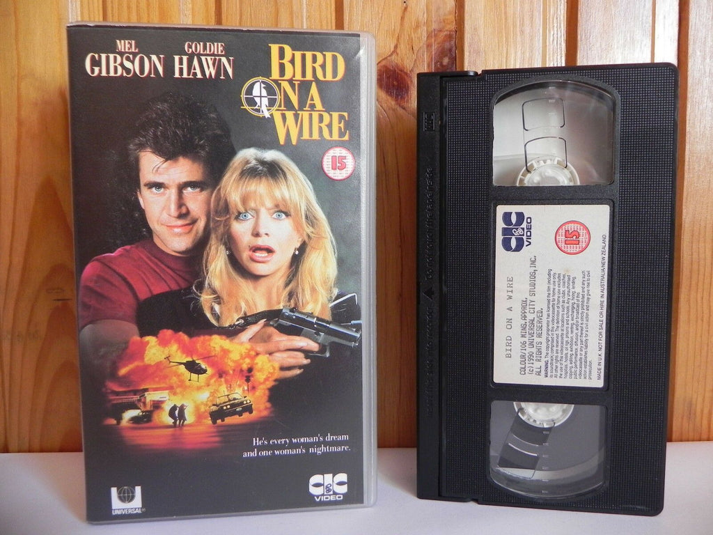 Bird On A Wire - CIC Video - Action - Comedy - Mel Gibson - Goldie Hawn - VHS