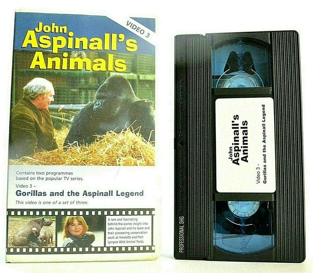 Animals: By John Aspinall/Video 3: Gorillas And The Aspinall Legend - Pal VHS
