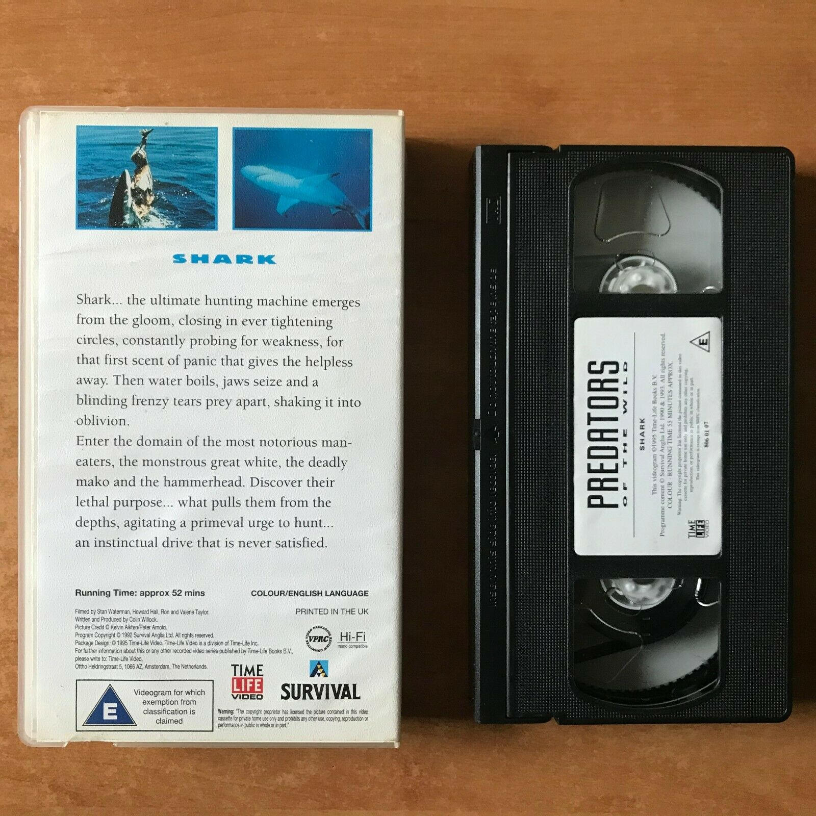 Predators Of The Wild: Shark [Time Life Video] Documentary (Colin Willock) VHS
