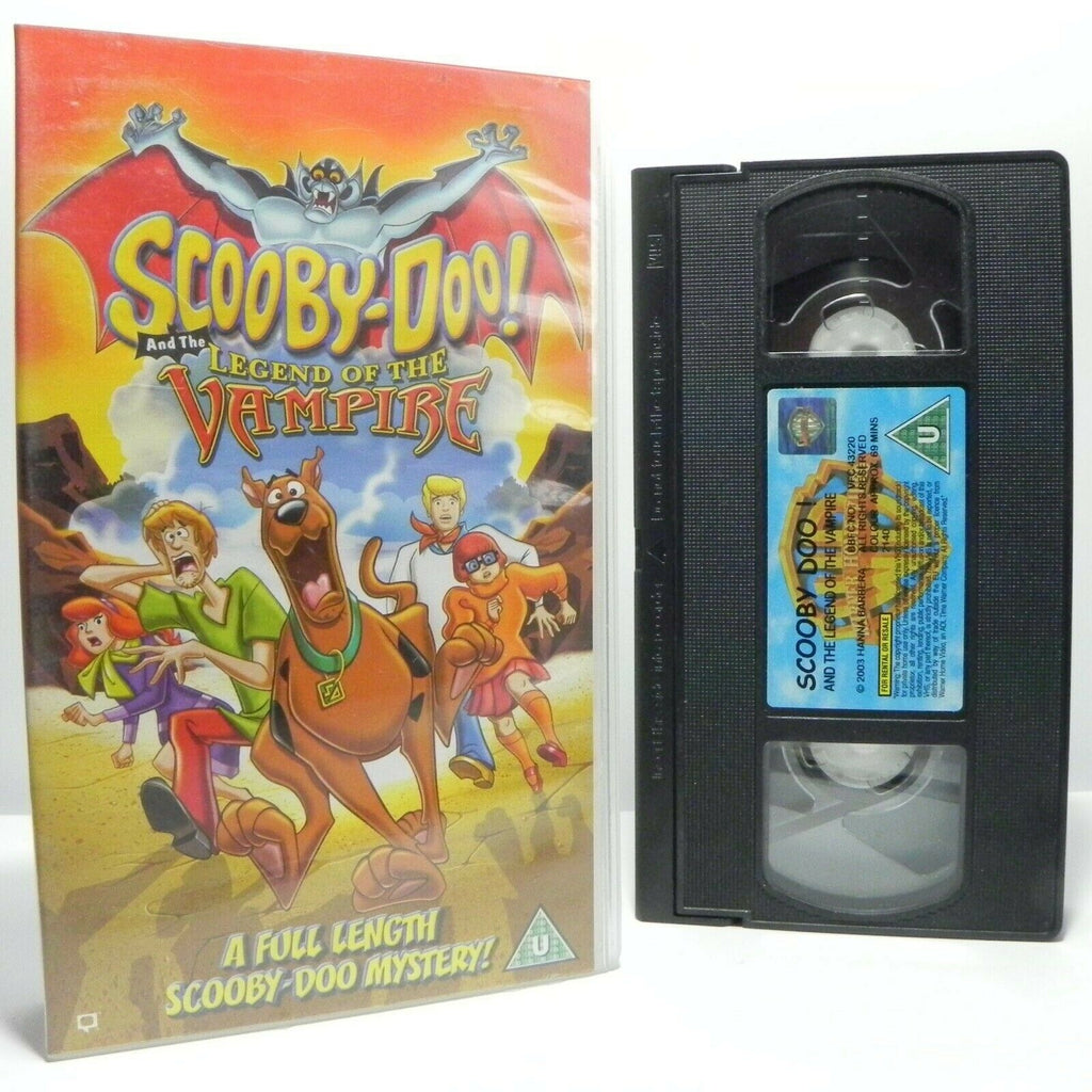 Scooby Doo And The Legend Of The Vampire - Mystery Animation - Kids - Pal VHS