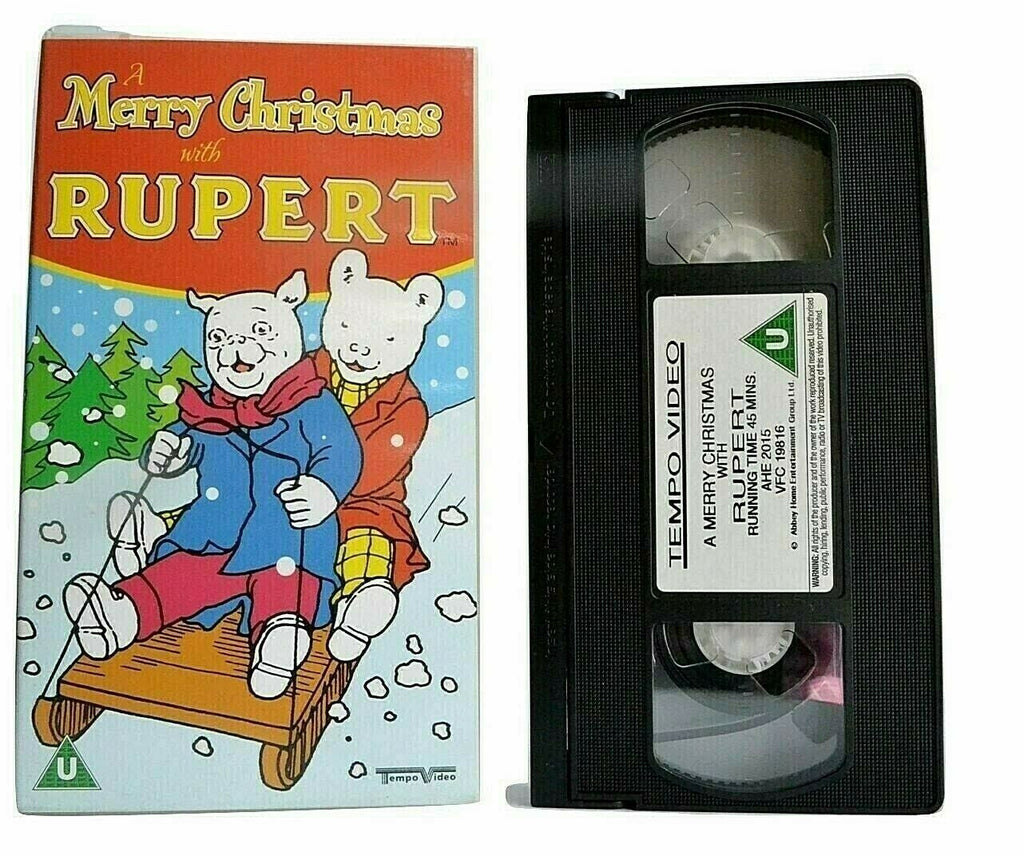 2001, Adventures, Animated, Children's & Family, Christmas, Kids, Merry, PAL, Rupert, Rupert Bear, U, United Kingdom, VHS, With