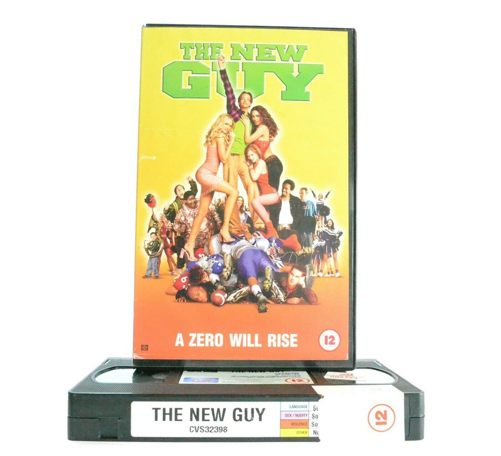 The New Guy - Teen Comedy - Large Box - Ex-Rental - High School Loser - Pal VHS