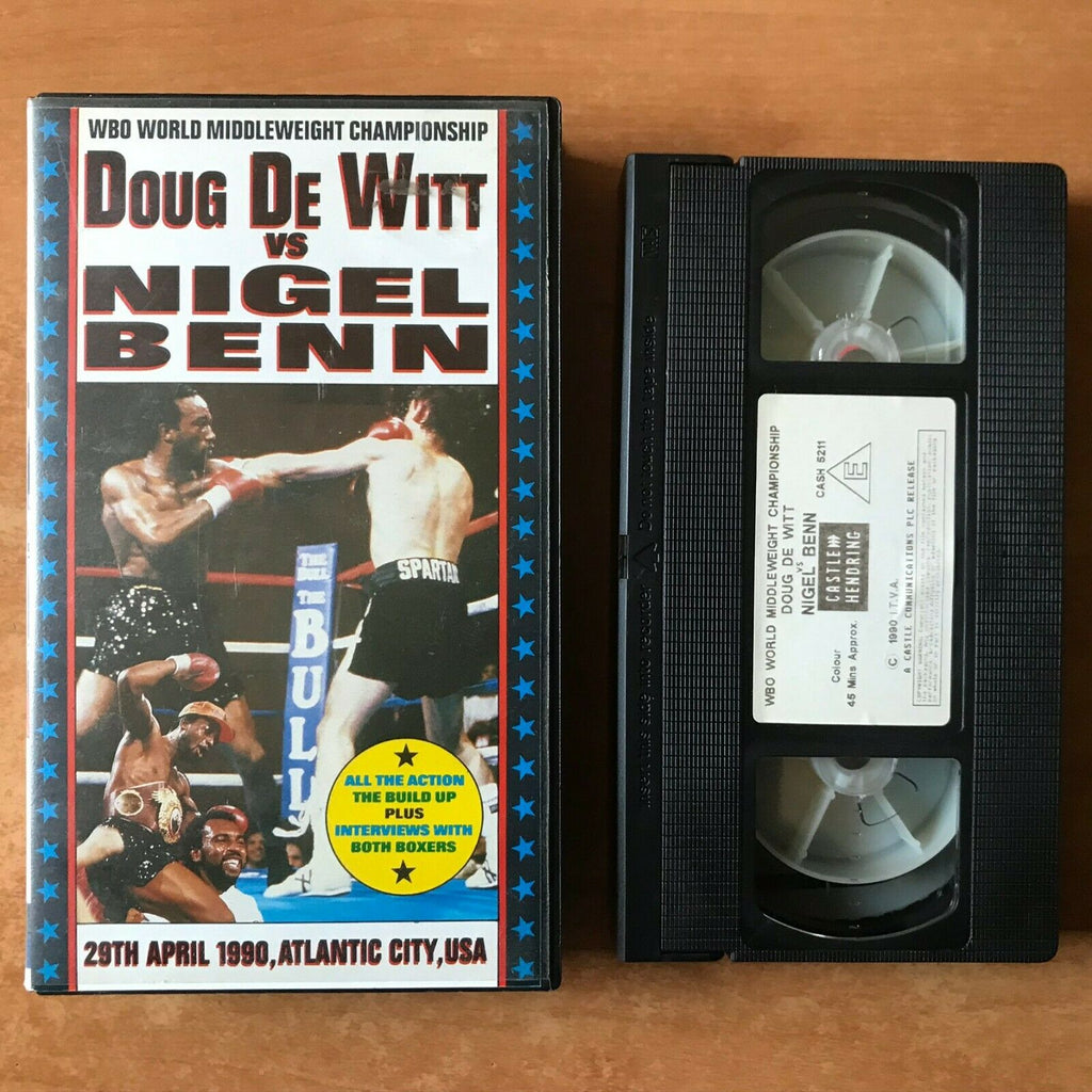 Doug De Witt Vs. Nigel Benn (1990); [Atlantic City / USA] Boxing - Sports - VHS