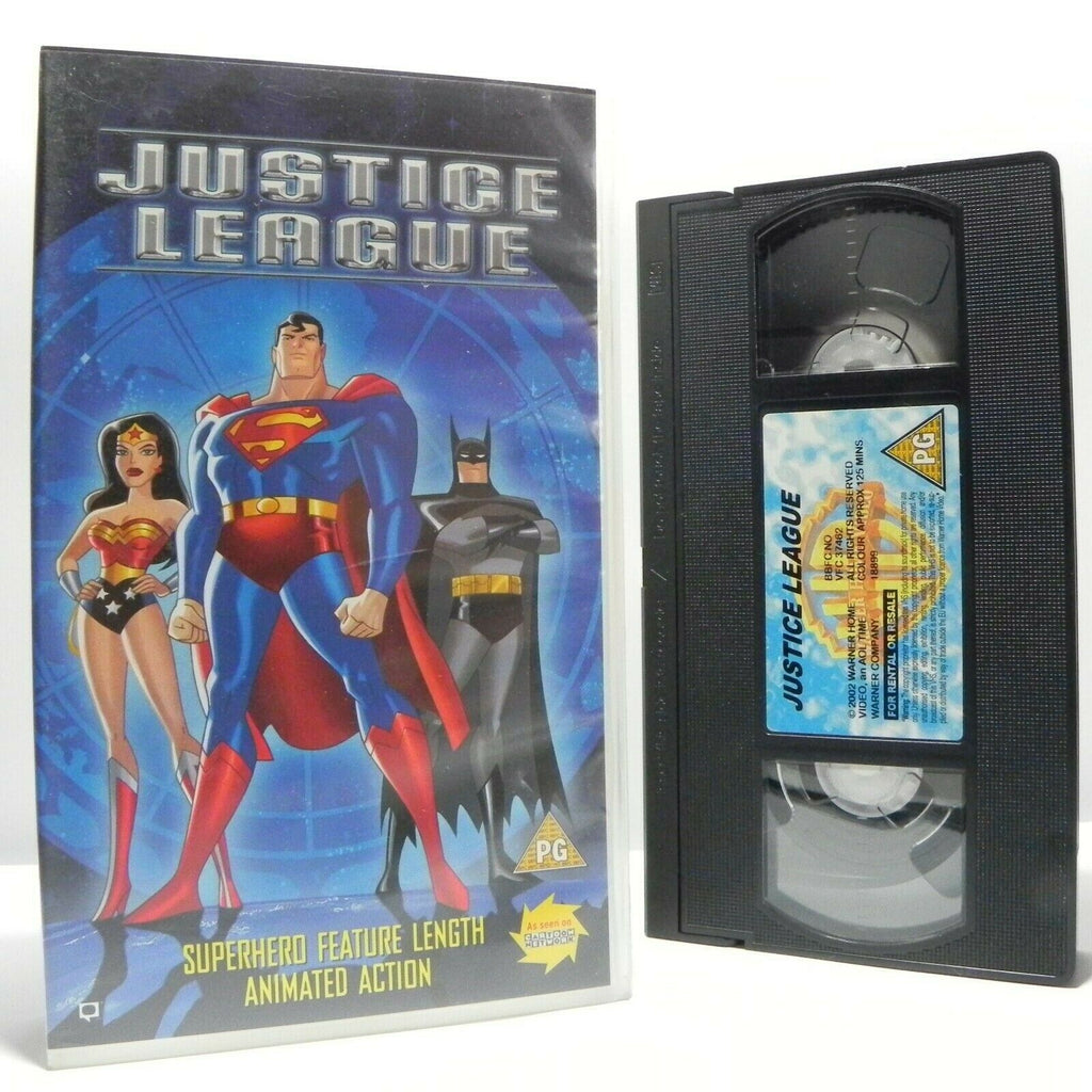 Justice League - Animated - Action Adventure - Batman - Superman - Kids - VHS