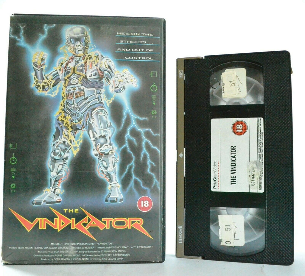 The Vindicator (Frankenstein '88) - Sci-Fi Action (1986) - Roboman/Cyborg - VHS