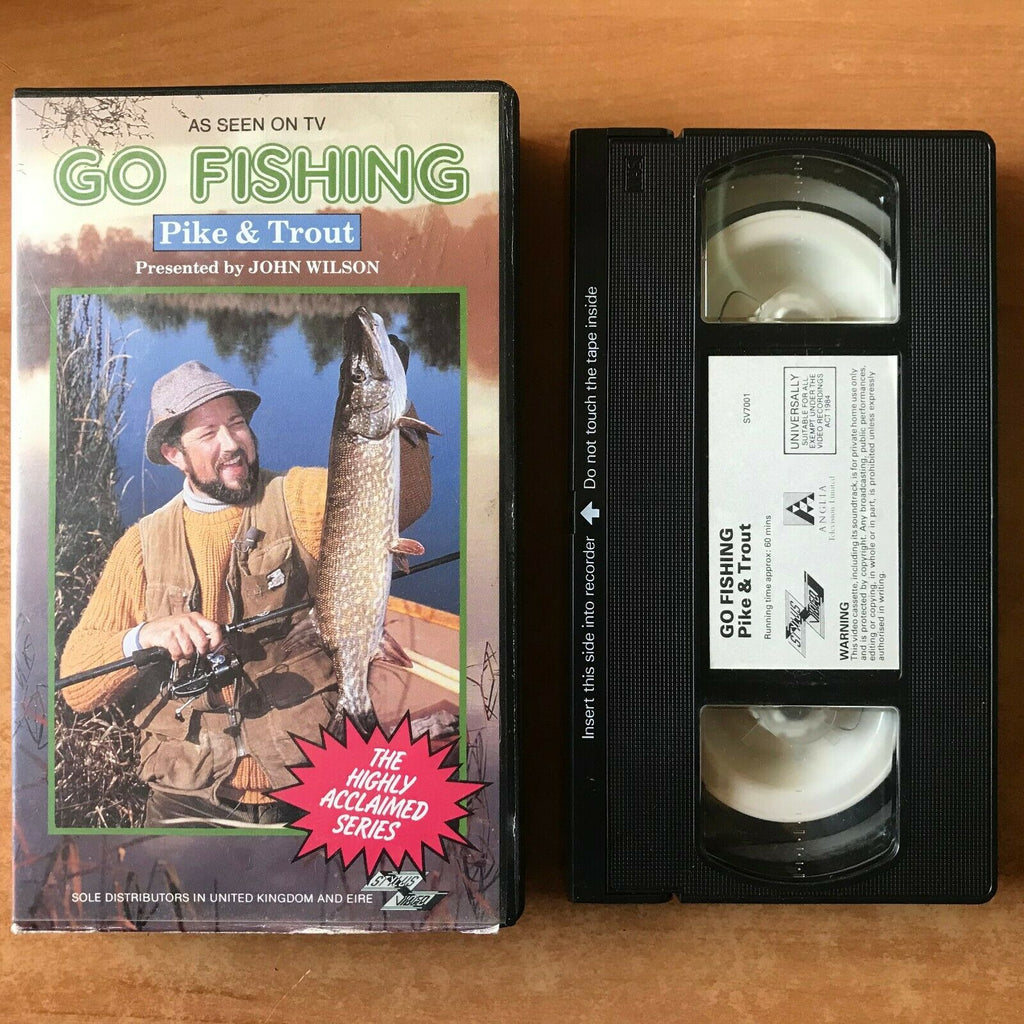Go Fishing: Pike And Trout (Stylus Video); [John Wilson] TV Series - Pal VHS