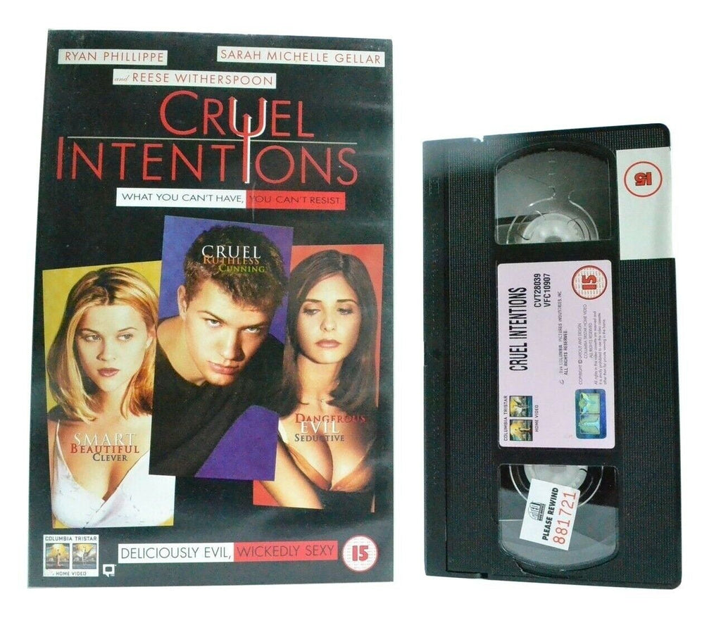 "Cruel Intentions: Based Of ""Les Liaisons Dangereuses"" - Romantic Drama - VHS"